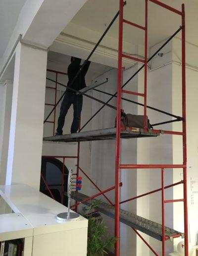 Instalación de andamio