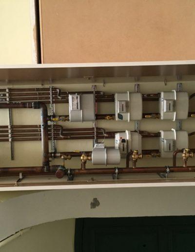 Centralización contadores de gas aprovechando pequeños espacios